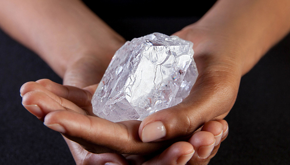 "At 1109-carat, the ""Lesedi La Rona"" is the largest gem-quality rough diamond to be discovered in over a century and the largest Type IIa rough diamond in existence today.  Image: Lucara Diamond Corporation"