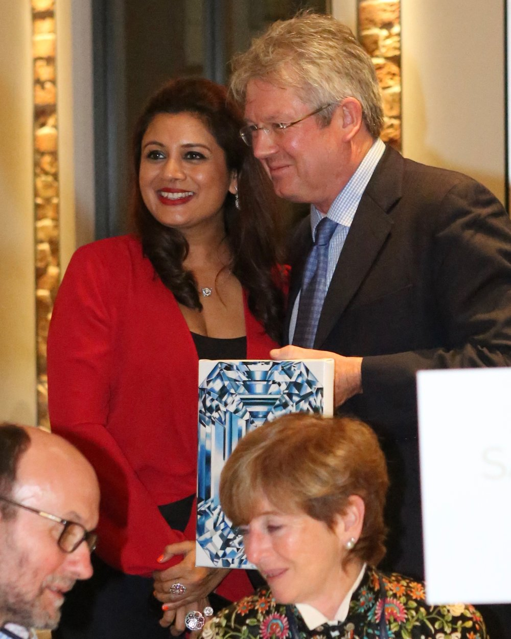 Wonderful Mark Cullinan of Cullinan Diamonds (his great grandfather was the owner of the famous Cullinan Mike), is now the owner of Reena Ahluwalia's blue diamond painting.