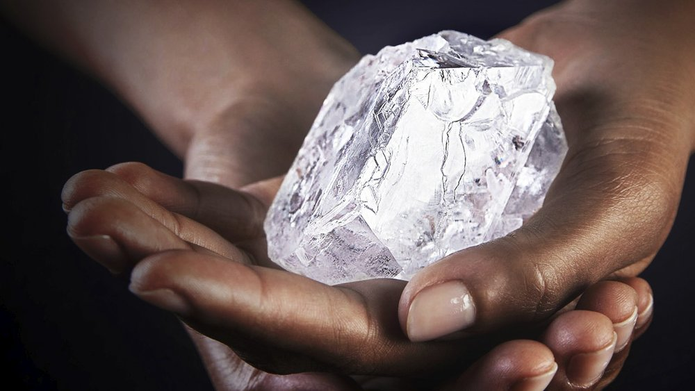 The Lesedi La Rona is a  Type IIA diamond . Type IIa diamonds are the most valued and the purest type of diamonds. They contain either very little or no nitrogen atoms in the crystal structure. Image: Lucara Diamonds