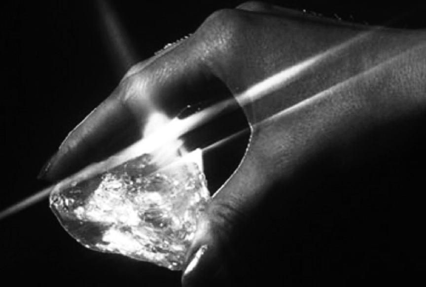 The Star of Sierra Leone diamond was discovered by miners on February 14, 1972 in the Diminco alluvial mines in the Koidu area of Sierra Leone. It ranks as the fourth-largest gem-quality diamond and the largest alluvial diamond ever discovered. Image: Unknown