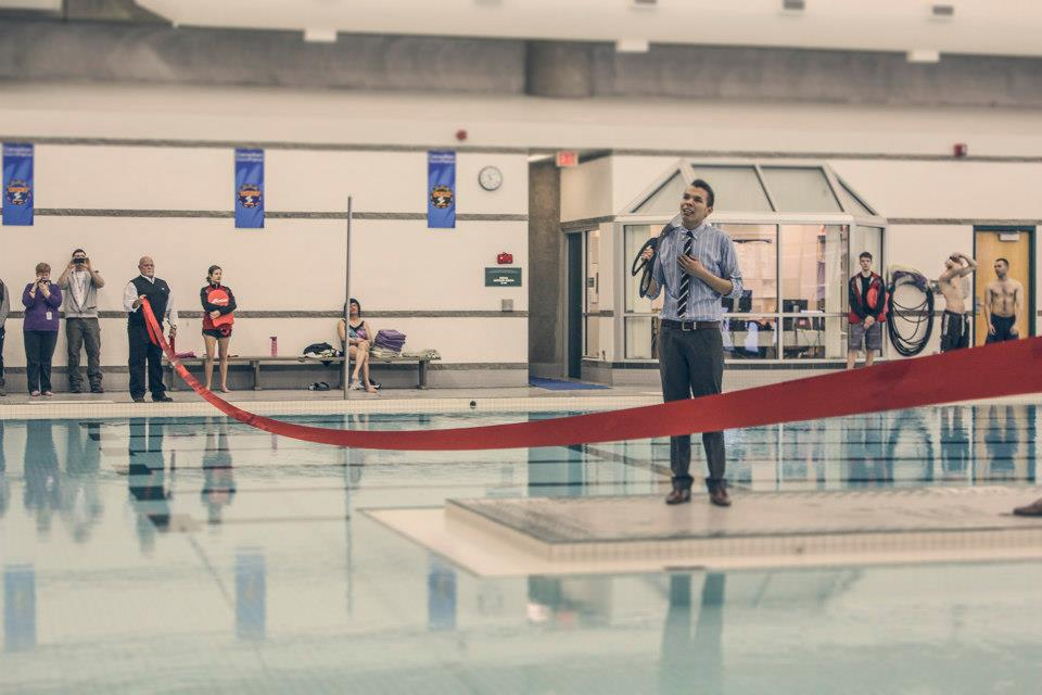 Opening newly-renovated MacEwan University pool (2013)
