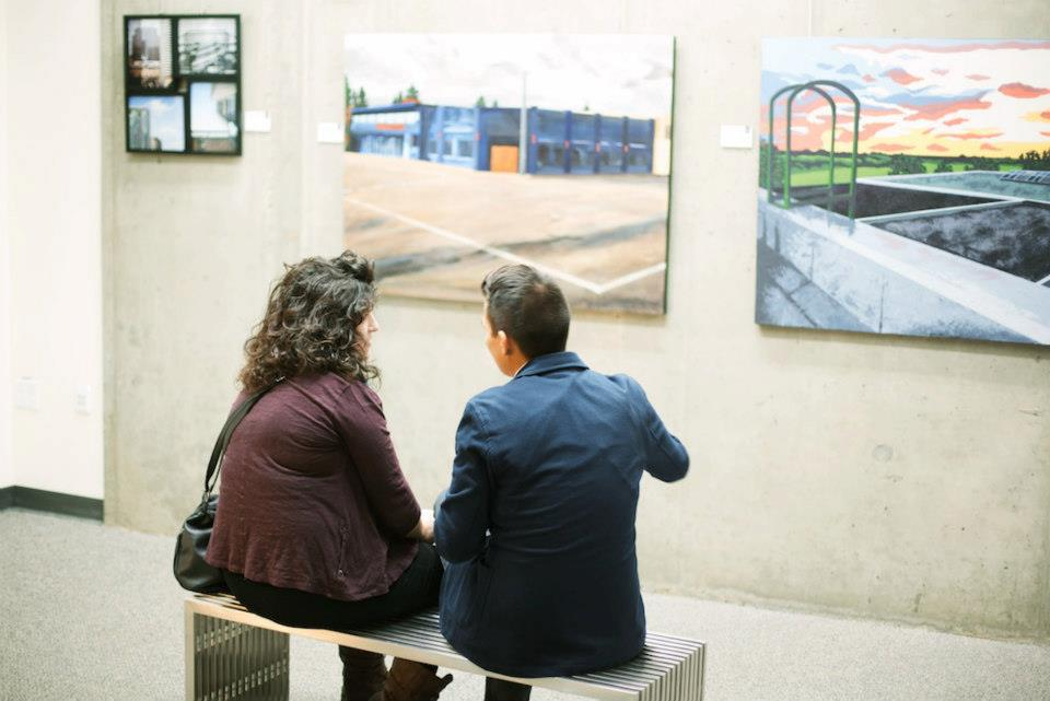 Talky moment at the opening of the SAMU Gray Gallery (2012)