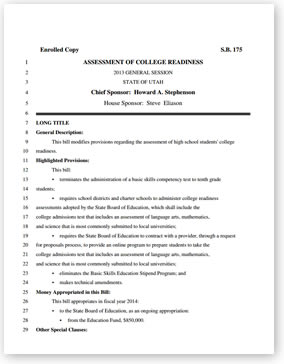 College Readiness Bill Template Download the PDF file