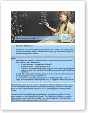 Math Improvement K-12 Template Download the PDF file