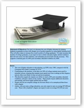 DLA Cost of Higher Education Policy Template Download the PDF file