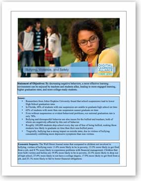 Bullying, Violence, and Safety Policy Template Download the PDF file