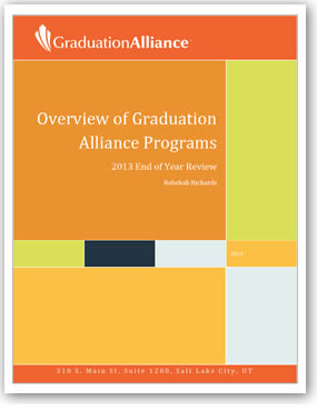 Graduation Alliance Success Report 2013 Download PDF file