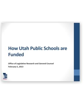 How Utah Public Schools are Funded
