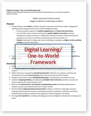 Digital Learning One-to-World Framework