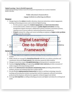 Digital Learning One-to-World Framework