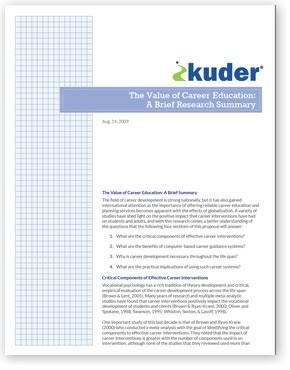 Kuder Overview DOWNLOAD THE PDF FILE
