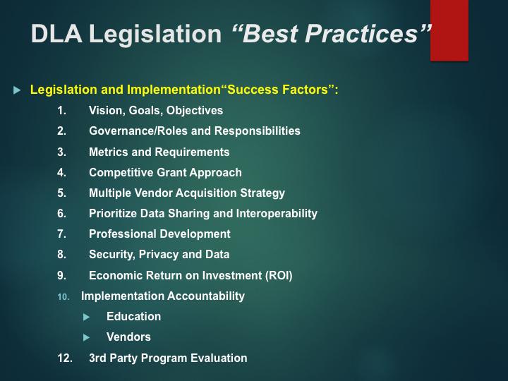 "Copy of Copy of DLA Legislation ""Best Practices"""