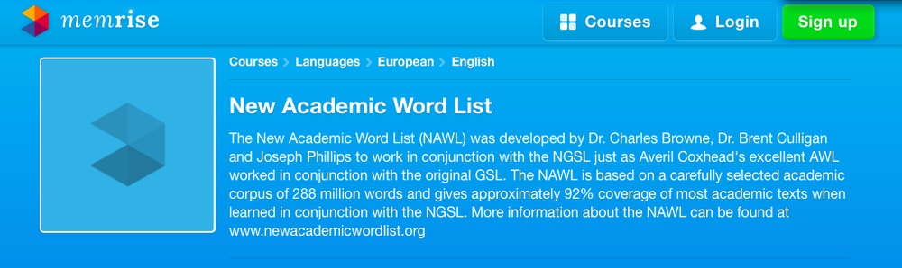 NAWL Course at Memrise.com