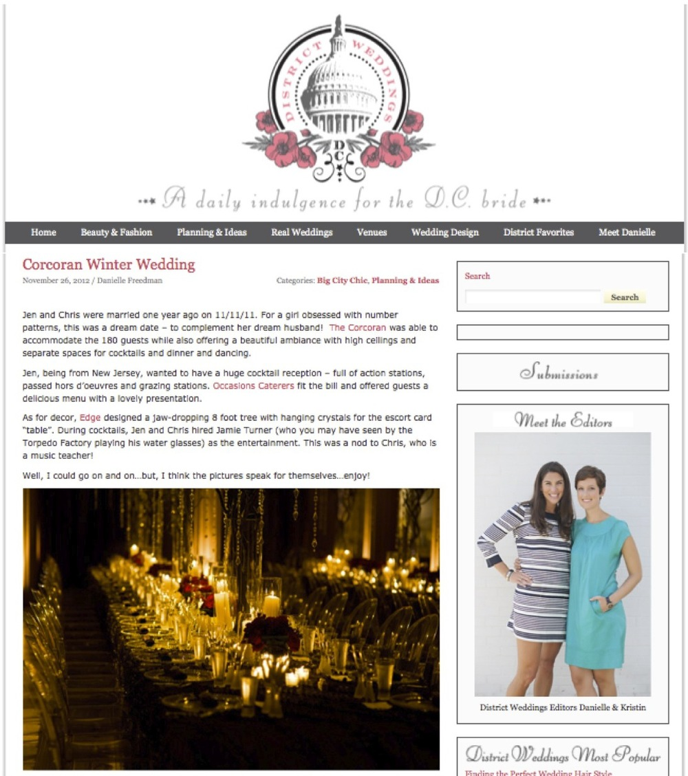 Corcoran Winter Wedding