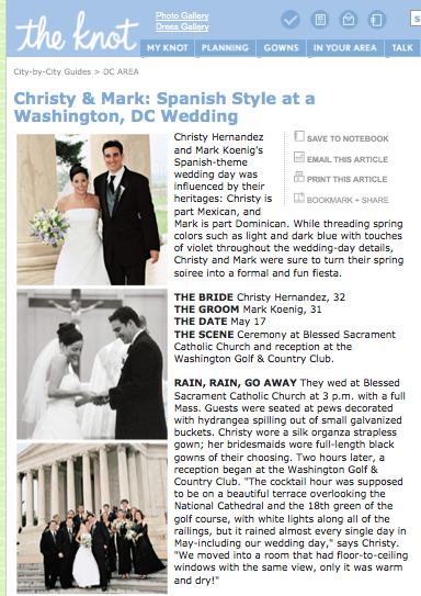 Christy & Mark's Spanish Style DC Wedding