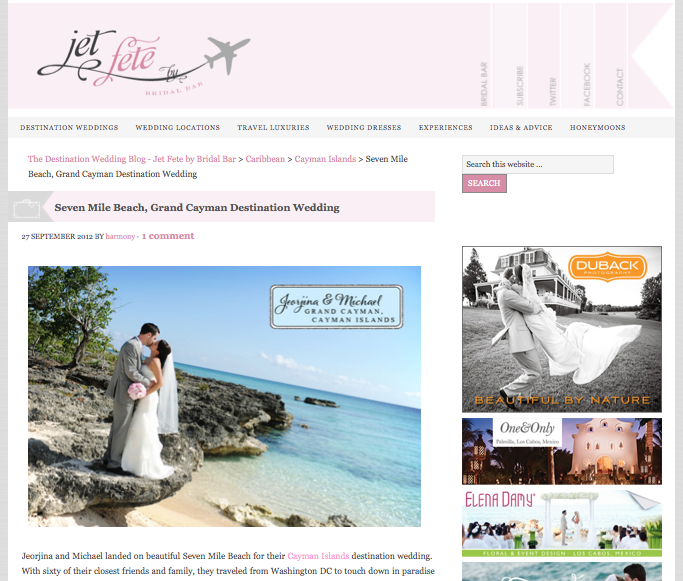 even Mile Beach, Grand Cayman Destination Wedding