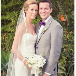Jenna's veil had a delicate scalloped lace trim added an additional layer of elegance to her look