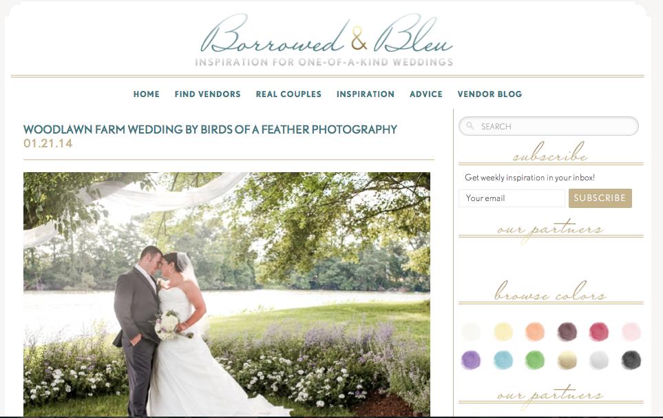 Woodlawn Farm Wedding by Birds of a Feather Photography