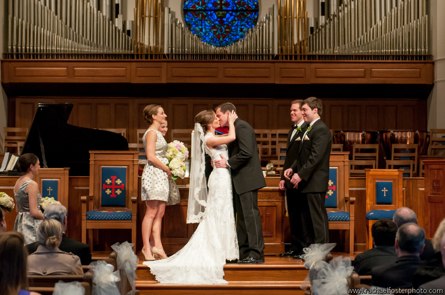 Debbee + Adam on January 5, 2013 ♥ Rachael Foster Photography in Westminster Presbyterian Church