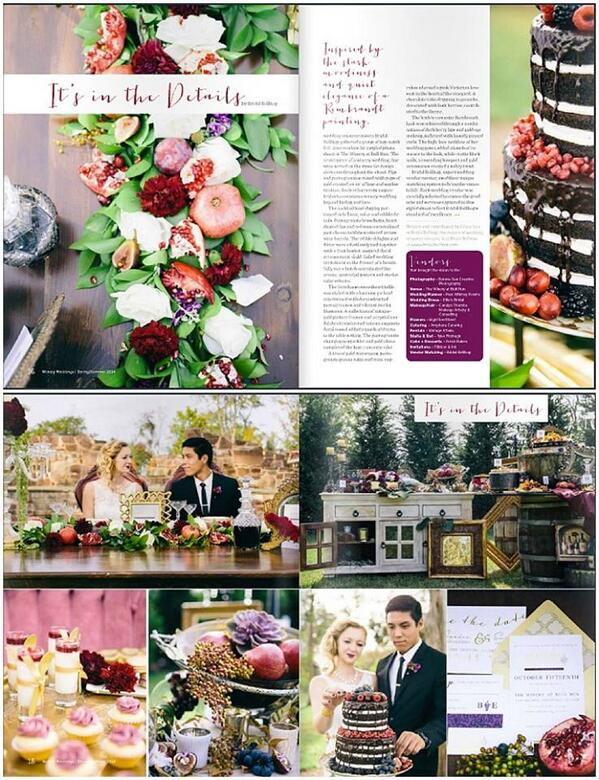 Ellie's Bridal gown features in Winery Weddings Magazine