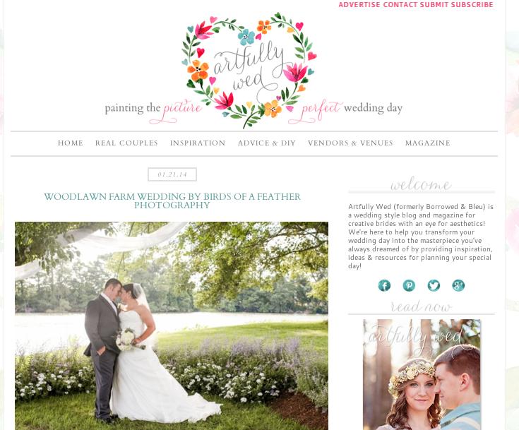 Emily + Jimmy's Woodlawn Farm wedding featured on Artfully Wed