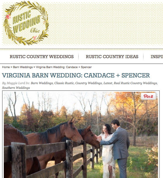 Virginia Barn Wedding: Candace + Spencer