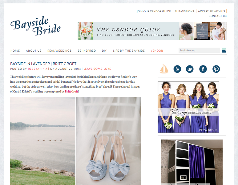 Bayside in Lavender by Britt Croft Photography