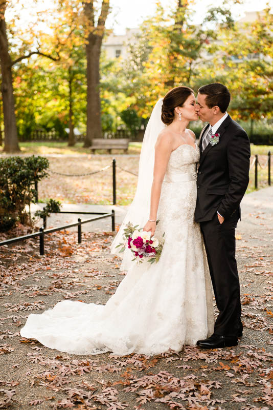 Valerie + Isaac on November 2, 2013 ♥ Alexandra Friendly Photography at Josephine Butler Parks Center (NW DC)  ♥  GOWN FOR SALE - Click for more info