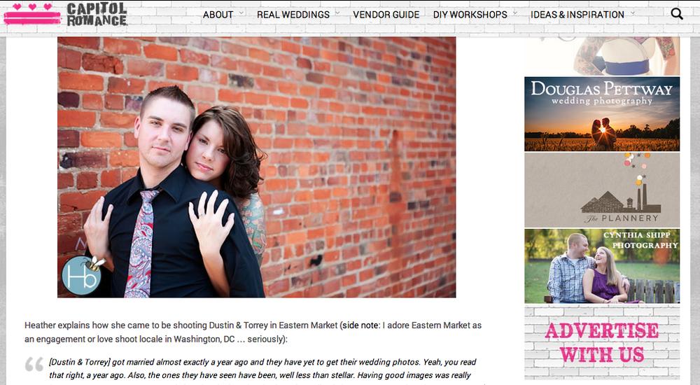 """Dustin & Torrey's Offbeat Washington DC """"Redemption"""" Wedding Portraits"""