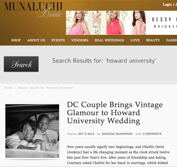 DC Couple Brings Vintage Glamour to Howard University Wedding