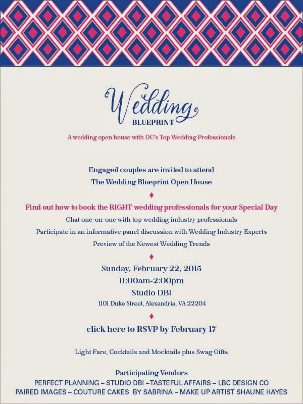 Wedding Blueprint: A wedding open house with DC's top wedding professionals. Feb 22 in Alexandria, VA.