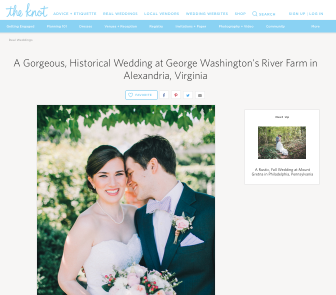 A Gorgeous, Historical Wedding at George Washington's River Farm in Alexandria, Virginia