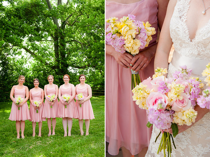 Lisa & her bridesmaids on May 30, 2015 ♥ Kelly Ewell Photography at Rose Hill Manor (Leesburg, VA)
