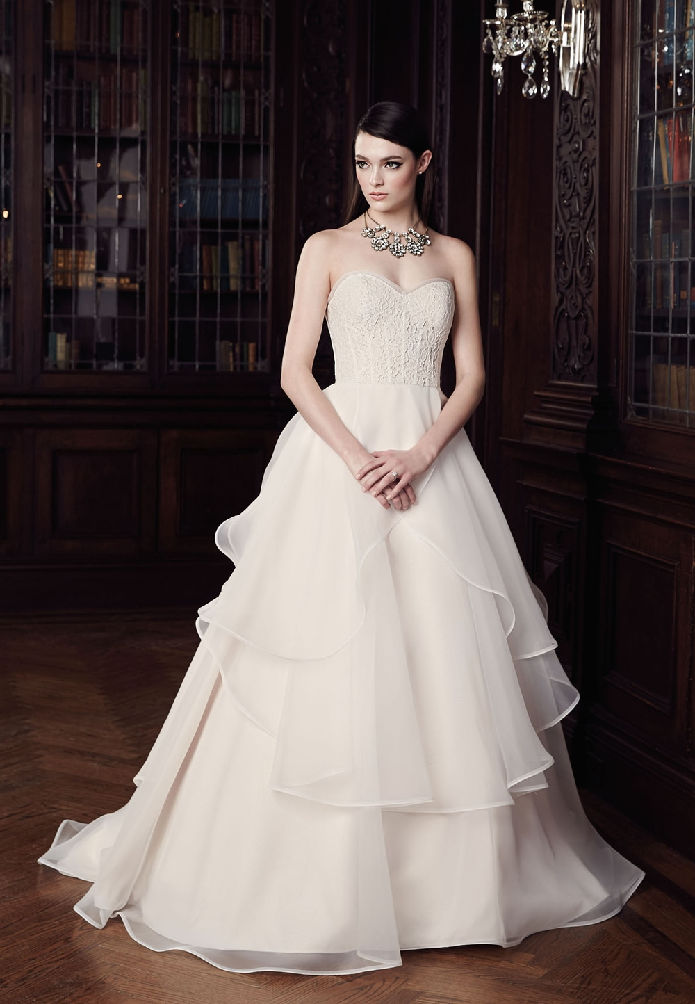 Mikaella (Under $5000) – find it at Ellie's Bridal Boutique