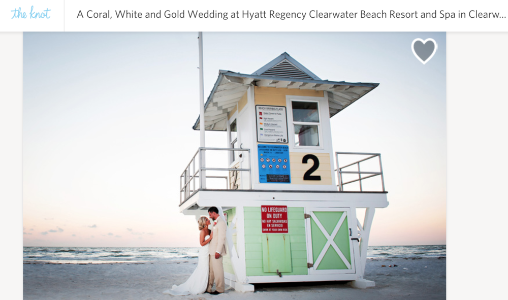 Copy of A Coral, White and Gold Wedding at Hyatt Regency Clearwater Beach Resort and Spa