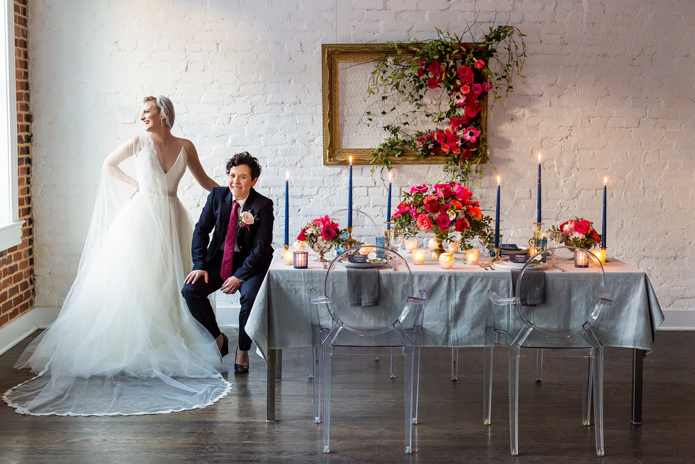 """Nautical-Industrial"" Styled Shoot by Sincerely Pete Events ♥ Procopio Photography at Fathom Gallery (NW DC)"