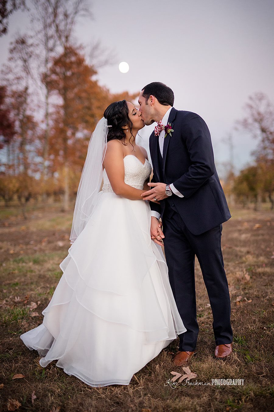 Sara + Patrick on November 11, 2016 ♥ Kim Hockman Photography at The Harvest House at Lost Creek Winery (Leesburg, VA)