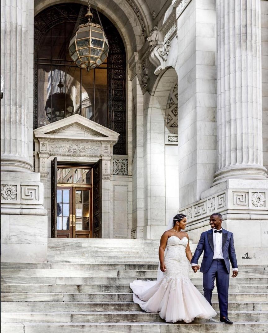 Nikeita + Herbert on June 9, 2017 ♥ Amy Anaiz Photography at New York Public Library (New York, NY)