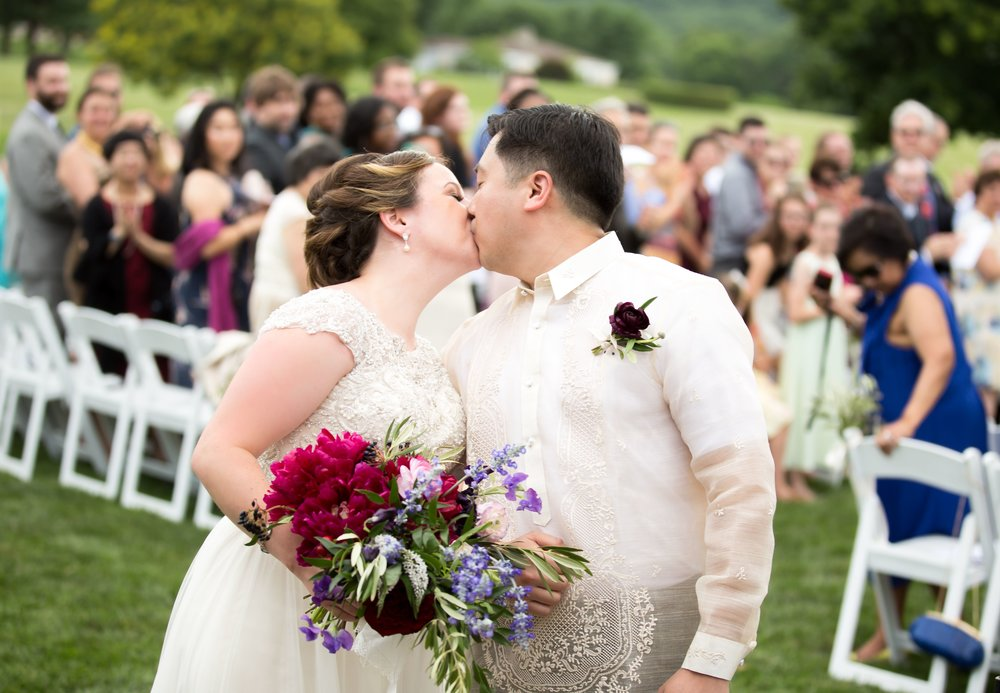 Margaret + Ben on June 23, 2017 ♥ Kimberly Dean Photos at Evergreen Country Club (Haymarket, VA)