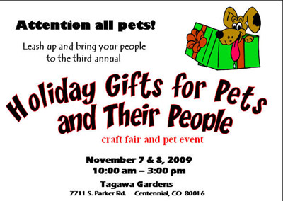 Holiday Gifts for Pets and People Craft Show