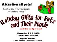 Tagawa Holiday Gifts for Pets Craft Fair
