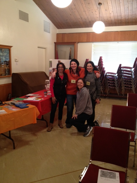 GRIN Volunteers, Mora, Roni and Valentina helped the event run smoothly!