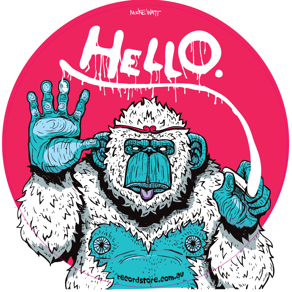 Hello, Monkey by Mike Watt - $20