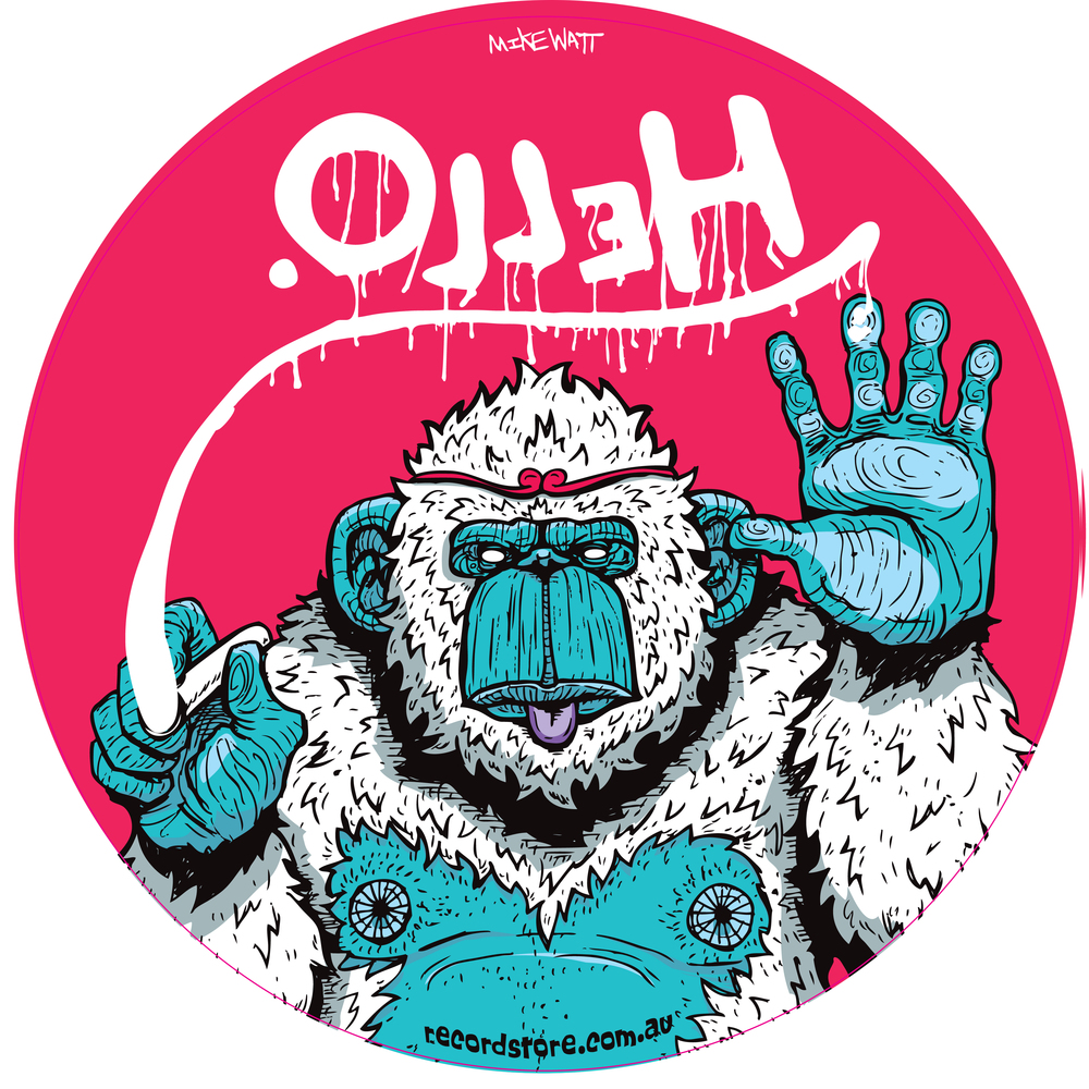Olleh, Monkey by Mike Watt - $20
