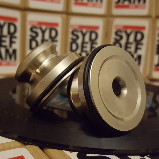 "Syd Def Jam Super heavy Duty Dinks. For 7"" records with the big hole. $30"