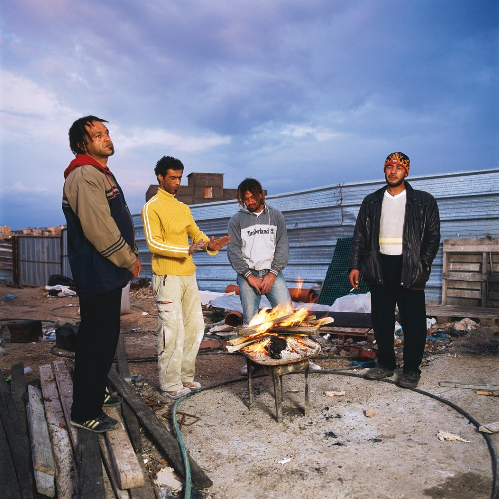 Bader, Khaled, Wajdi and Alla, 2006, C-print, 90X90 cm