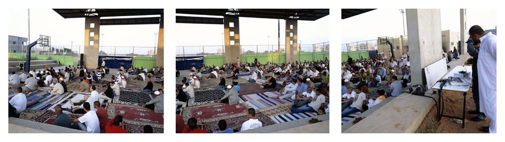 Eid al- Fitr Prayer #1 ( triptych), 2007, Inkjet print, 110X137 each