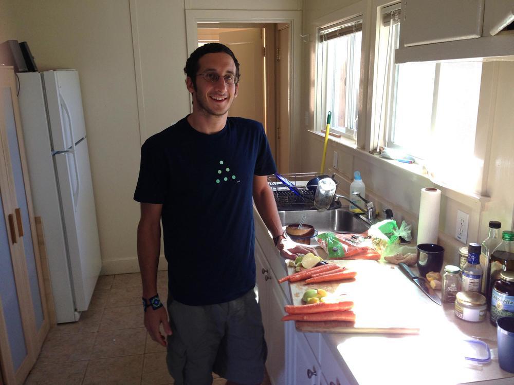 Dan Goldstein, health foods maker and shaker. Santa Cruz, California