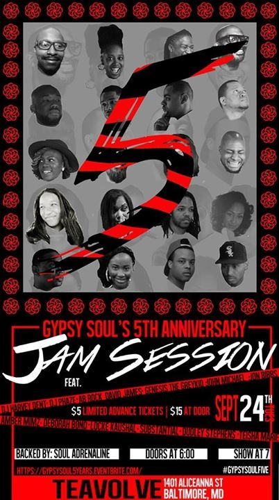 9/24 - Teavolve - Gypsy Soul 5th Anniversary Celebration