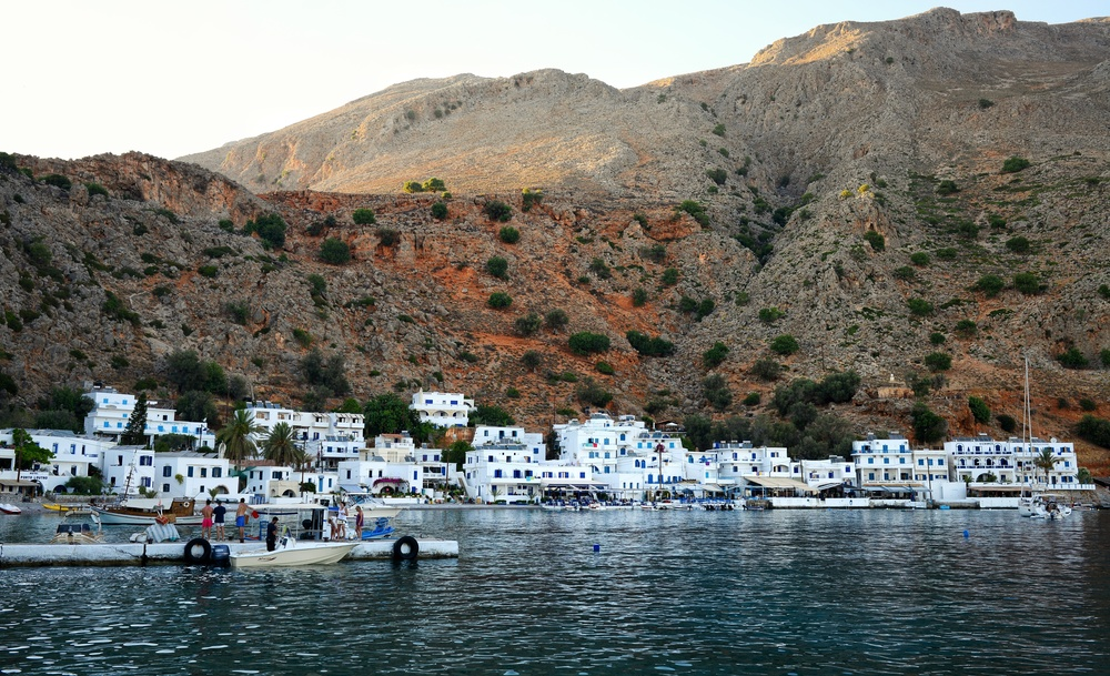 Loutro after the sun has made it's way further West.
